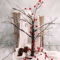 Rustic Brown LED Tree Table Decoration